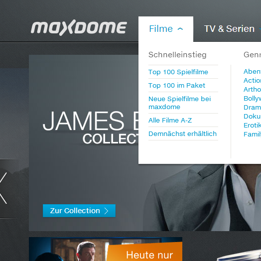 maxdome - Video on Demand - Deutschlands groesste Online-Videothek